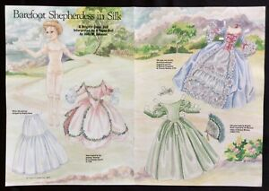 Barefoot Shepherdess in Silk Mag. Paper Doll By Judy Johnson, 1989