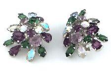 Christian Dior 1958 Ladies Womans Clip On Rhinestone Earrings L014QMM