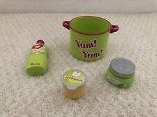 American Girl Bitty Baby Soap Green Yum Yum Cup Applesauce Peas