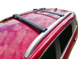 Alloy Roof Rack Cross Bar for Land Rover Freelander 2 11-15 Black Lockable