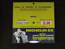 Ancien disque bleu Michelin Bibendum pour voiture vintage , automobile .