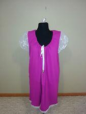 Kurti Tunic Women winter Wear slip on tie hot pink shirt/ dress L 14-16 fre ship