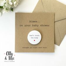 Personalised Funny Baby Shower Congratulations New Mum/Mummy to Be Card/Badge