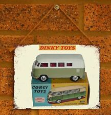 Vintage Tin Sign Dinky Car VW KOMBI Metal Sign Man Cave Volkswagen
