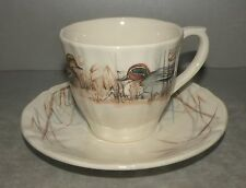 EW US Tea Cup and Saucer  Sologne Pattern From GIEN