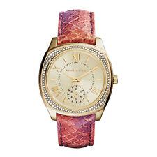 Michael Kors Women's Genuine Leather Strap Wristwatches