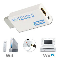 HDMI Adapter Converter For Wii Audio Video Output Full HD 720P 1080P HDTV. 0105