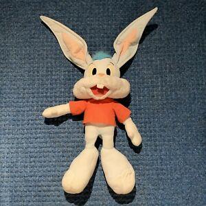 """Tiny Toon Adventures BUSTER BUNNY Plush Toy Doll TALKING Pullstring 20"""" RARE"""