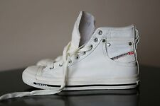 Diesel Exposure White Leather Sneakers Trainers Size 6 UK 39 EU
