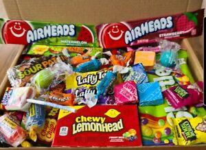 50 PERSONALISED American Sweets Gift Box USA Candy Hamper Birthday Fun Dip