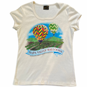 Vintage Balloons Above The Valley T Shirt Napa CA Single Stitch US Made Womens S