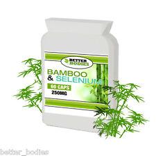 BAMBOO silice 415mg include selenio e biotina 60 capsule bottiglia meglio Organismi
