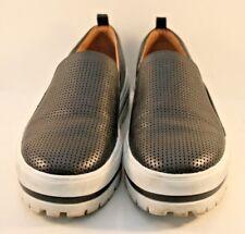849cb81ffc6 Halogen Black Leather Teagen Slip On Fashion Sneakers Womens Size US 6.5M