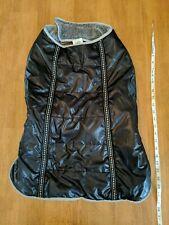 Top Paw Faux Leather Dog Coat Jacket Size XXL Black Faux Fur Lined Velcro
