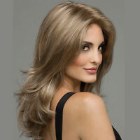 Women's Synthetic Wig Medium long Straight Natural Hair Wigs Light Brown
