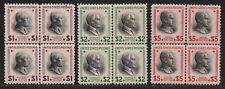 """US#s 832-834 *MINT OG H NH* { SCARCE -XF- """"CENTER LINES"""" } BLOCKS OF 4 FROM 1938"""