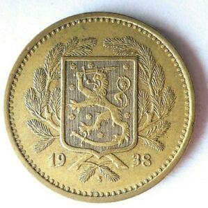 1938 FINLAND 20 MARKKAA - Very Rare Type - HUGE CATALOG VALUE Coin - Lot #L19