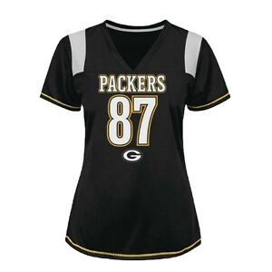 NFL GREEN BAY PACKERS WOMENS #87 JORDY NELSON BLACK JERSEY SMALL (xs fit) NWT