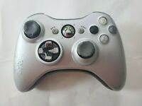 """B"" Official OEM Genuine Microsoft xbox 360 Wireless Controller Silver! Free S/H"
