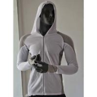 Men's Fishing Shirt Long Sleeve Hooded Sun Shirt Breathable Sunscreen Anti-UV