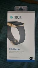 SLIM ACCESSORY BAND & FRAME FOR FITBIT BLAZE Black Gold Stainless Size S/P NEW
