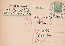 Germany 1957 Postcard used VGC