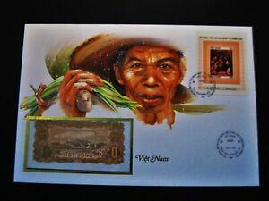 Banknotenbrief  Vietnam  1 Dong  unc.