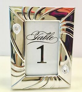 Elegant Wedding Table Number Silver Frame 1 Each Up To 30 Tables Sparkling Bling