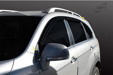 Smoke Tinted weathershields for 06/2006 ~ 2016 Holden Captiva 7 Series I & II