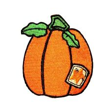 ID 0827 Prize Pumpkin Patch Halloween Harvest Farm Embroidered Iron On Applique