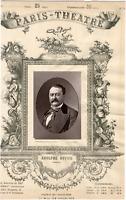 Lemercier, Paris-Théâtre, Adolphe Dupuis (1824-1891), acteur Vintage albumen Pri