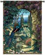 TUSCAN VILLA FLORAL ARCHWAY ART TAPESTRY WALL HANGING 56x80