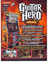 Konami Guitar Hero Arcade FLYER 2009 Original NOS Art Print Sheet Rock And Roll