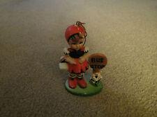 Vtg. Imitation Hummel Girl At Bus Stop Ornament-Made in China -Plastic 1980's(U)