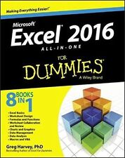 Excel 2016 All-In-One for Dummies by Greg Harvey (Paperback, 2015)
