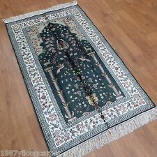 Yilong 3'x5' Classic Handmade Carpet Traditional Hand Knotted Silk Area Rug 971B