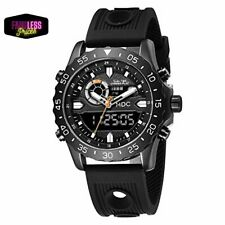 Big Face Military Tactical Watch for Men Black Mens Outdoor Sport Wrist Large an