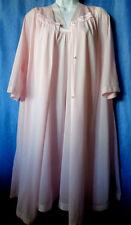 Vintage VASSARETTE Beautiful Baby pink Night Gown and Robe Set Size XL XXL