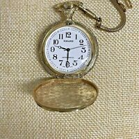 Vintage Elegance Hunting Pocket Watch Antimagnetic Wind Up Large Numbers