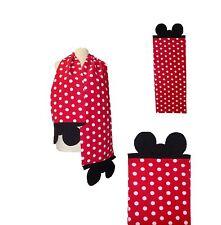 Mouse Ears Scarf Red Polka Dot Fleece Neck Warmer Wrap Unisex Women Girls Boys