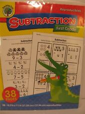 Teaching Tree Reproducibles First 1st Grade Subtraction NEW in Package