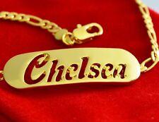 Gelb 18K Vergolde Namensarmband - CHELSEA - Namensschild Benutzerdefinierte