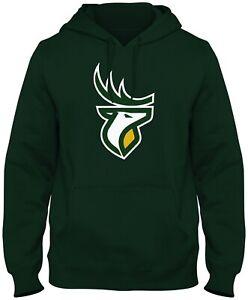 Men's Edmonton Elks Green Primary Logo CFL Football Hooded Sweatshirt Pockets