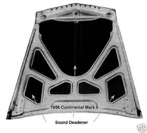 Packard Ford Chev Chrysler Dodge DeSoto Hood Trunk Insulation Sound Deadener
