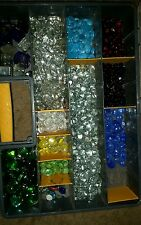 969 colored glass gems