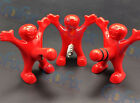 3 Funny Happy Red Man Novelty Wine Bottle Stopper Bottle Opener Corkscrew