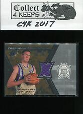 2007-08 SPX Freshman Orientation Jersey #FO-SH Spencer Hawes RC Sacramento Kings