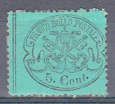 PONTIFICIO - 1868 - 5 cent azzurro verdastro (25a) - MH