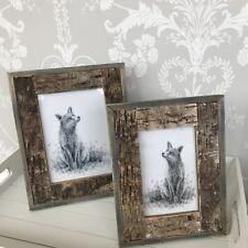 "New ! Unusual Rustic Bark photo frame Small 4 X 6"""