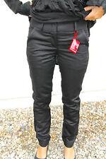 pantalon coton lin noir M&F GIRBAUD bayonnette T 31 (42) NEUF prix boutique 320€